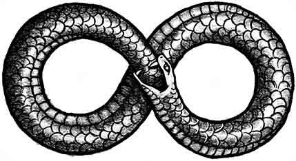 Serpiente - símbolos del infinito
