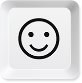 Happy keyboard button