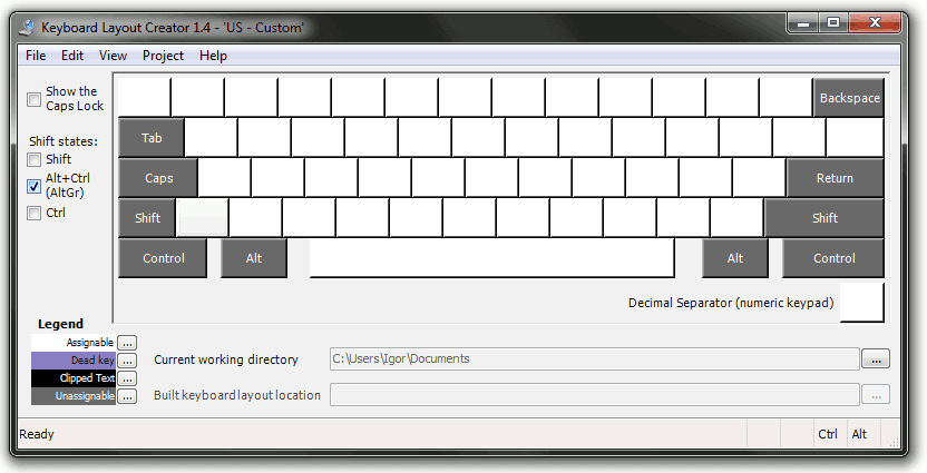 Keyboard Layout Creator: AltGr state is empy