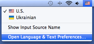Open language and text preferences