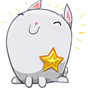 Happy bunny earned a star badge