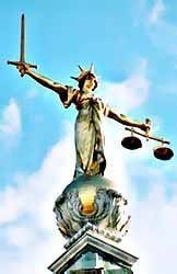 Statue of justice - Copyrights are protected by law