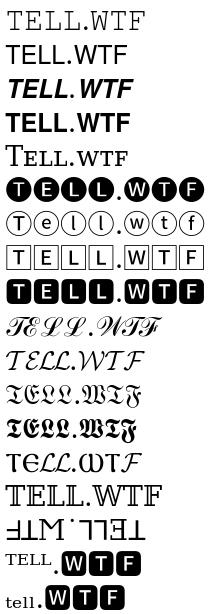 tell.wtf