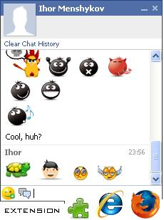 facemoods - plugin for facebook chat smileys preview