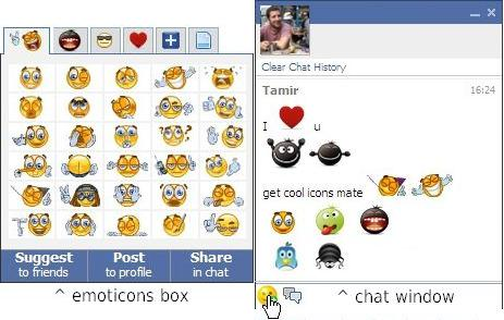 facemoods  plugin for more Facebook chat smileys