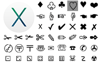 Apple Mac OS Character Palette (map of text symbols)