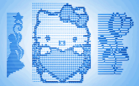 Post-ASCII Text Art (text pictures from symbols)
